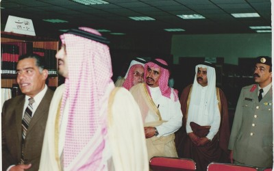 الأميران / خالد الفيصل – فيصل بن خالد ، في إحدى مناسبات النادي