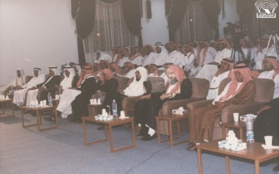 من أنشطة النادي ومحاضراته : محاضرة د. إبراهيم مبارك الجوير – إدارة الأستاذ / محمد زايد الألمعي .