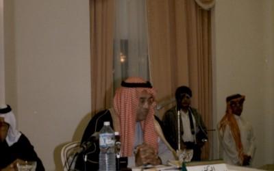 إحدى أماسي النادي للشاعرين الدكتور / غازي القصيبي – أ. عبد الرحمن رفيع ، وحضور الأمير / خالد الفيصل …