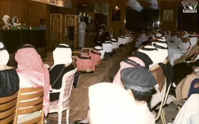 إحدى الفعاليات في النادي لعبد الله بن إدريس وغيره برعاية الأمير / خالد الفيصل .