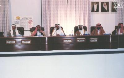 حفل تكريم د. عبد الرحمن الضحيان وآخرين . إدارة / د. سعد عثمان .